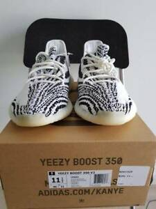 ADIDAS YEEZY BOOST 350 V2 ZEBRA SIZE US11.5 - BRAND NEW Carnegie Glen Eira Area Preview