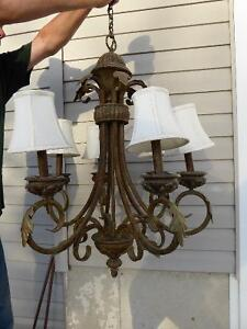Beautiful  Antiquish 6 light chandelier