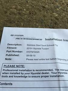 Hyundai Tucson Stainless Steel Exhaust Tip New Cambridge Kitchener Area image 2