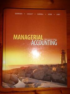 Managerial Accounting textbook - Garrison - ONLY $30!
