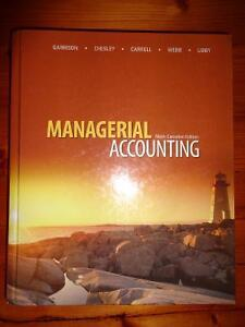Managerial Accounting textbook - Garrison - ONLY $40!
