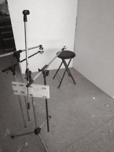 Photography / Photo / Video Backdrop - Foldable - with lights.