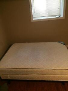 Double bed frame with 2 double mattress