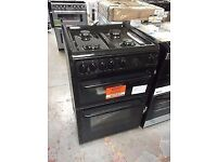 Brand new black Hotpoint gas cooker (HAG60K) with 1 year manufacturer warranty