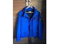 Royal Blue Stone Island Coat XL