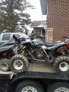 Well Taken Care of 02 Yamaha Raptor 660 Race quad.