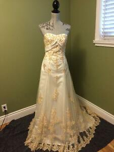Unique Wedding Dress in nearly NEW Condition - $350