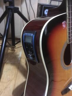 Acoustic guitar conversion with Piezo pickup and preamp
