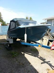1974 boat, motor and boat trailer for sale