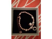 rose gold & silver charm bracelet