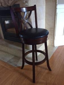 Leather Bar Stools - Perfect Condition - Pier One Imports