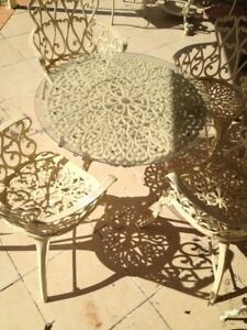 French Provincial CAST IRON Table Chairs OUTDOOR Vintage Charm Bracken Ridge Brisbane North East Preview