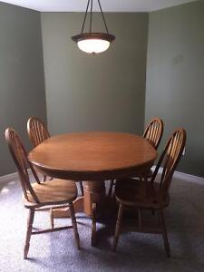 Dining Table Set with leaf (Chairs included)