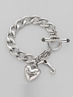 Juicy Couture Silver Heart Bracelet