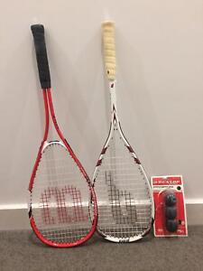 Wilson and Prince Squash racquets and balls Gladesville Ryde Area Preview