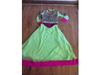 Lime and Pink Party dress