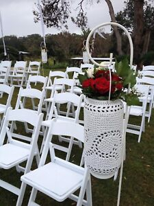 Americana white folding chairs for Hire Berkeley Vale Wyong Area Preview