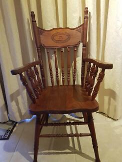 """Single Colonial Timber Chair Stamped """"Federation 1901 Australia"""""""