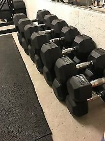 Cheap 20KG - 30KG Used Hex DB Set - Weights Dumbbells Gym