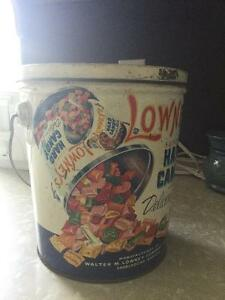 Vintage Lowney's Hard Candy tin(5lbs) 1950's