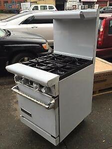 4 Burner American Range Stove With Oven - Brand New Gas or Propane - Storey's Restaurant Supply - 6 Burner Range Also
