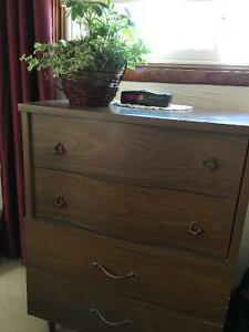 Double Bed and Tallboy Dresser