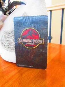 CARTE HOLOGRAMME LE MONDE PERDU / JURASSIK PARK / 1997