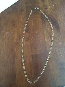 "10k 20"" Figaro gold chain"