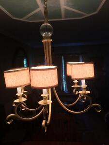Ceiling fixture with 6 shaded lights