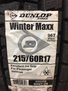 4 Brand New Dunlop Winter Maxx 215/60R17 *** WallToWallTires.com ***