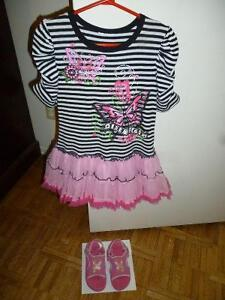 Butterfly Dress and Sandals for 5-6 years old girl