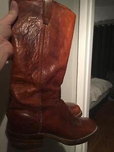 Vintage Tall leather Cognac pull on Riding Boot