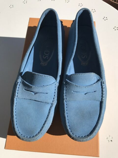 e52086a6244 Tods sky blue loafer shoes slip on size 36