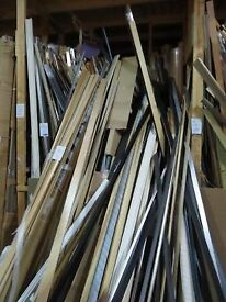 Approximately 1300 Lengths of Various Styled Moulding