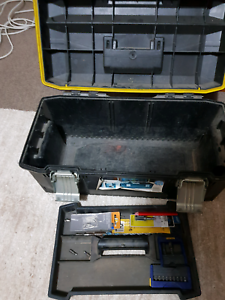 Stanley fatmax toolbox with assorted drill bits Edens Landing Logan Area Preview
