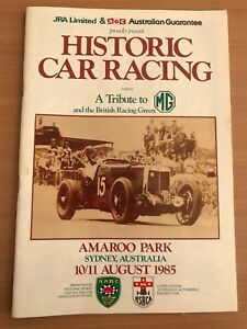 Historic car racing August 1985 Isaacs Woden Valley Preview