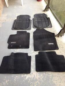 Complete Set of Toyota Yaris Floor Mats + Front Rubber Mats