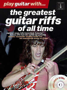 Play Guitar With The Greatest Guitar Riffs of All Time Book & CDs B25