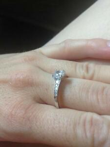 Promise Ring - 925 silver with cubic zirconia Kawartha Lakes Peterborough Area image 6