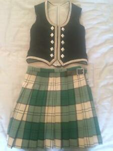 Girls size 7 kilt and vest