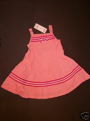 NWT Gymboree Candy Apple Pink Ribbon Dot Twirl Dress 2T