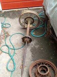 Model T axle parts and rims