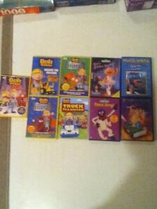 Bob the Builder DVDs and Sesame Street
