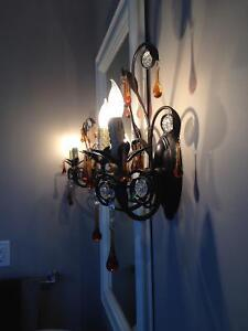 PAIR OF STUNNING CHANDELIER WALL SCONCES Stratford Kitchener Area image 3