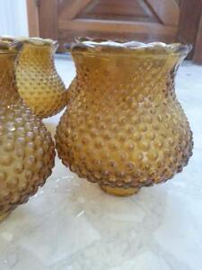 Vintage amber coloured glass light shades Peterborough Peterborough Area image 2