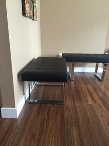 Excellent condition benches black with price reduce  steel legs Regina Regina Area image 4
