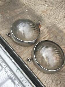 1936 ? Ford Headlight Lenses & Trim Rings Regina Regina Area image 1