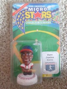 1995 Micro Stars Collectors Series Dave Justice MLB