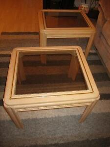 Glass top end tables Kitchener / Waterloo Kitchener Area image 2