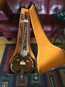 Full size sitar with case for sale